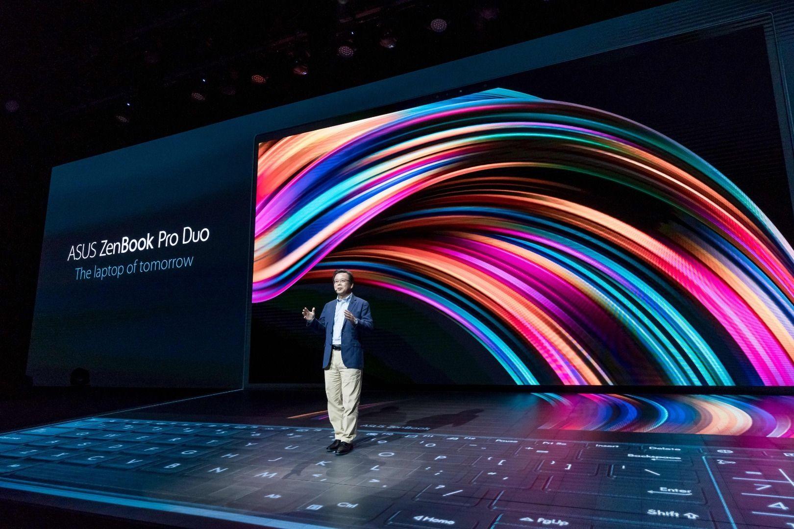 Asus tok i bruk hele Computex-scenen til å vise frem Zenbook Pro Duo.