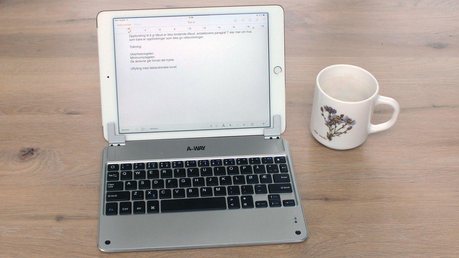 Dette A-Way-tastaturet kan åpnes fra 0 til 120 grader. Foto: Espen Irwing Swang, Tek.no