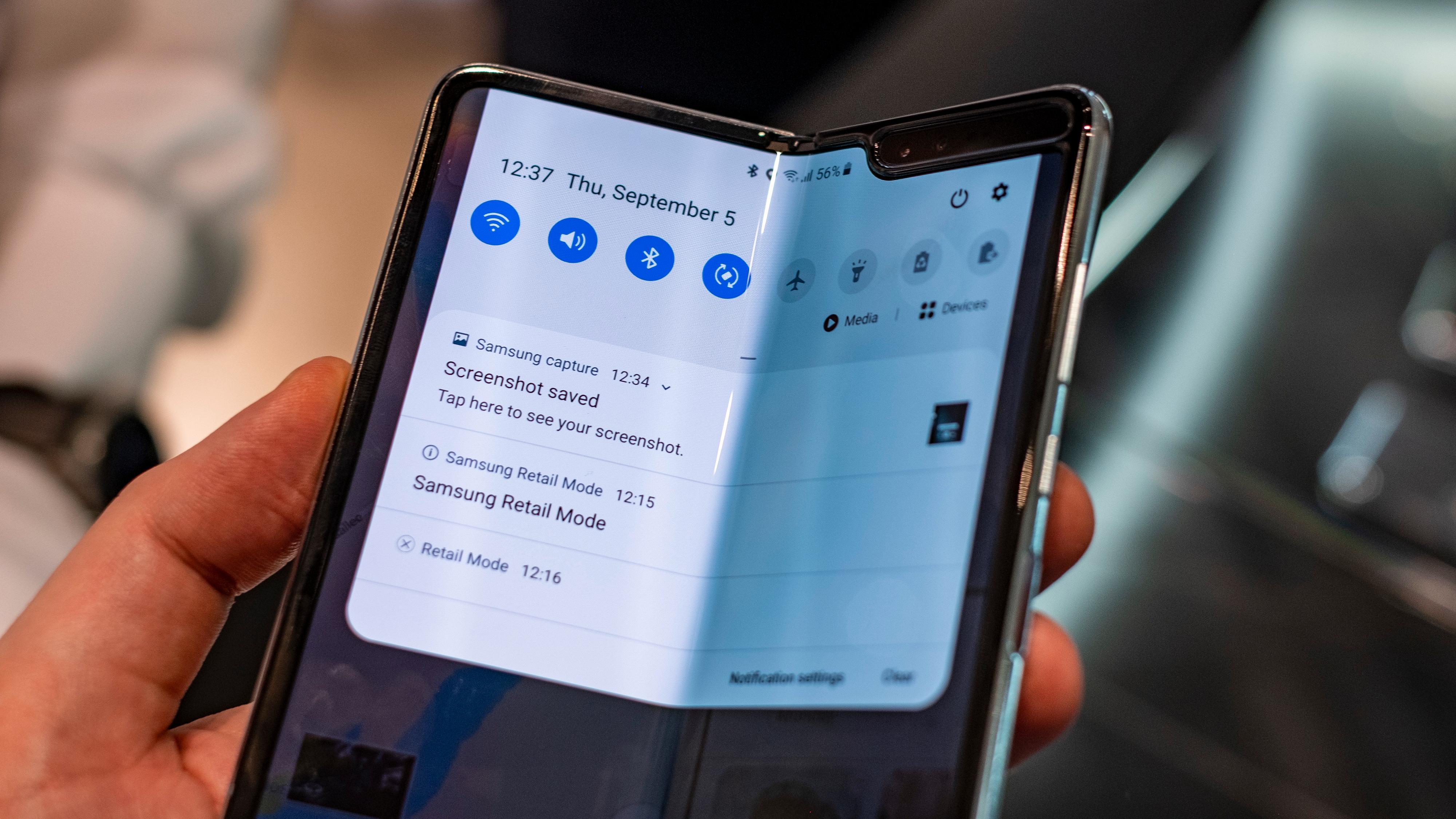 Det er ikke alle mobilskjermer du kan gjøre dette med ...