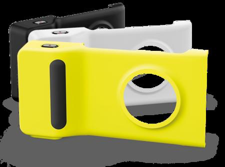 Slik ser kameragrepet med innebygget batteri ut til Nokia Lumia 1020. Foto: Microsoft