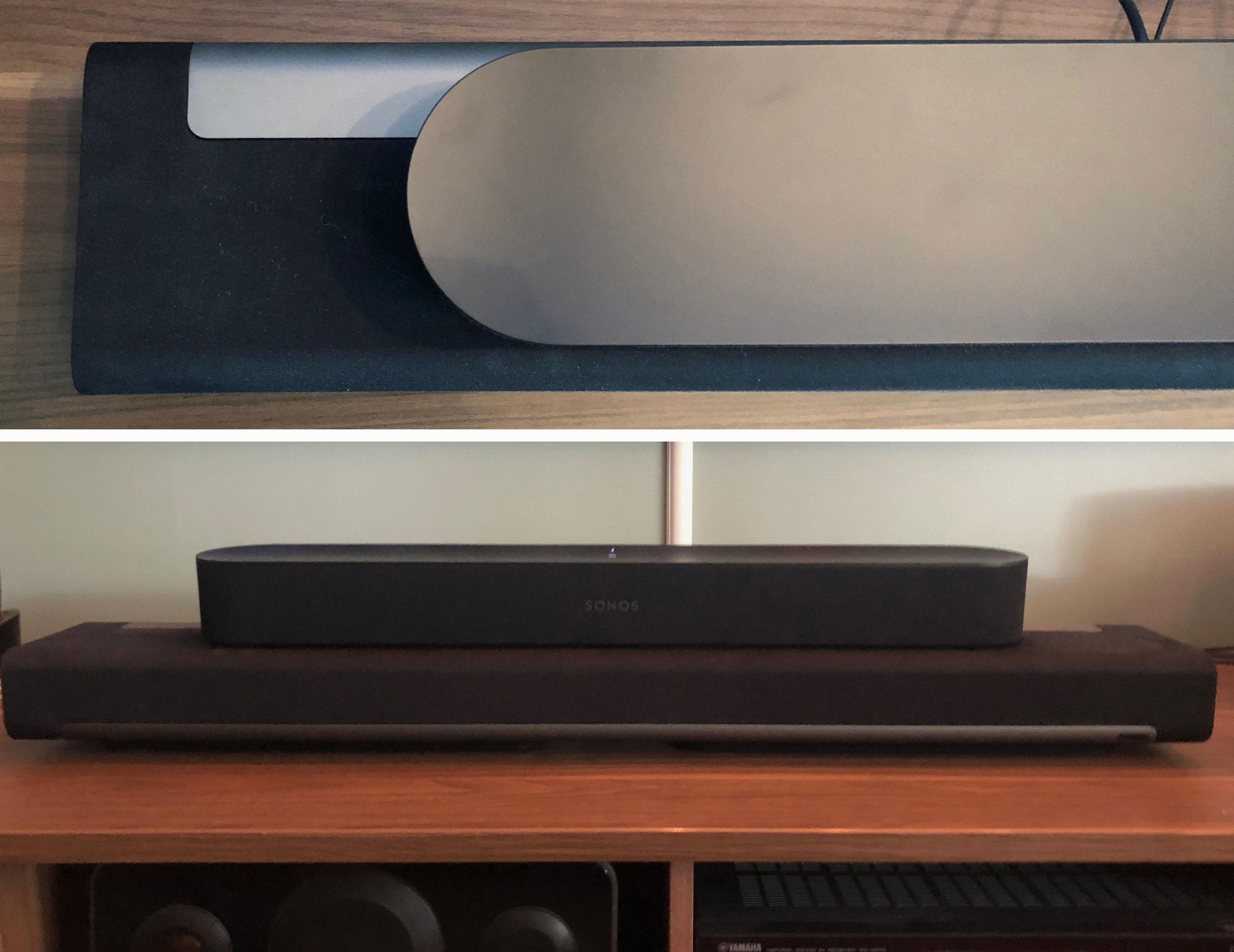 Sonos Beam er betydelig mindre enn Sonos Playbar. Likevel låter den ikke så veldig mye dårligere.