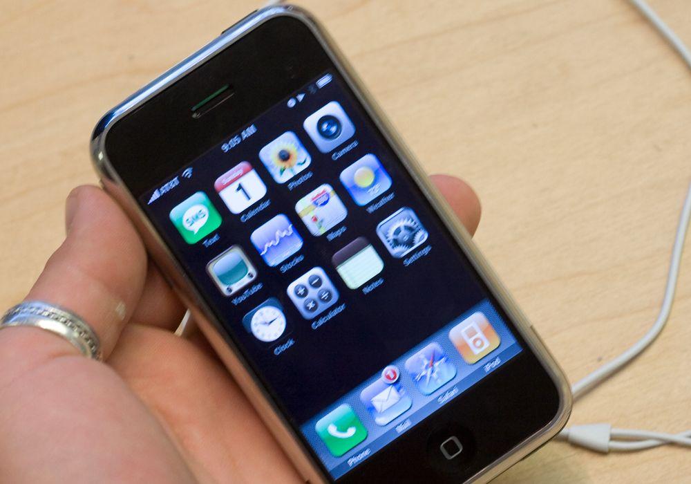 Her er iPhone-menyen.