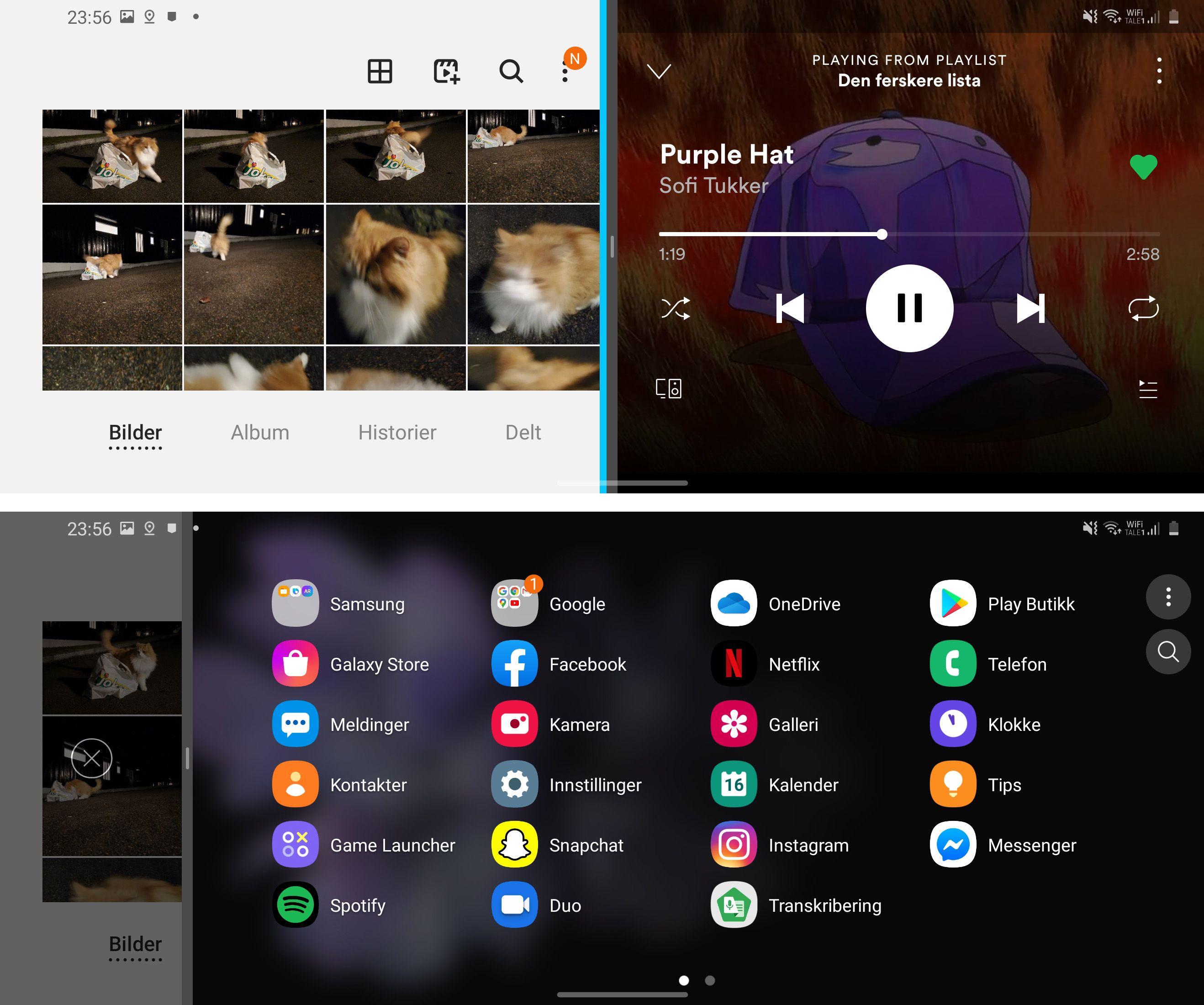 En ekstra bred skjerm er spesielt velegnet for å kjøre mer enn én app samtidig.