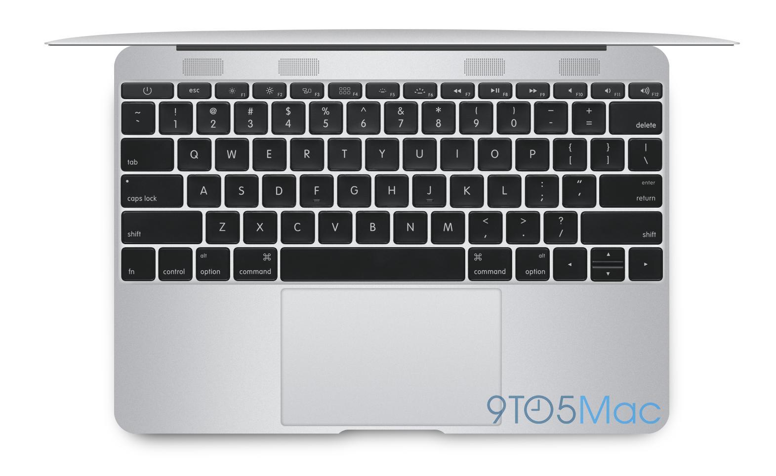 Keyboardet skal være noe smalere enn tidligere. (Illustrasjon: Michael Steeber/ 9to5mac.com)