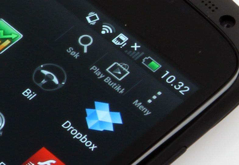 Telefonen har 16 GB minne ombord, og 25 GB ekstra på skytjenesten Dropbox.