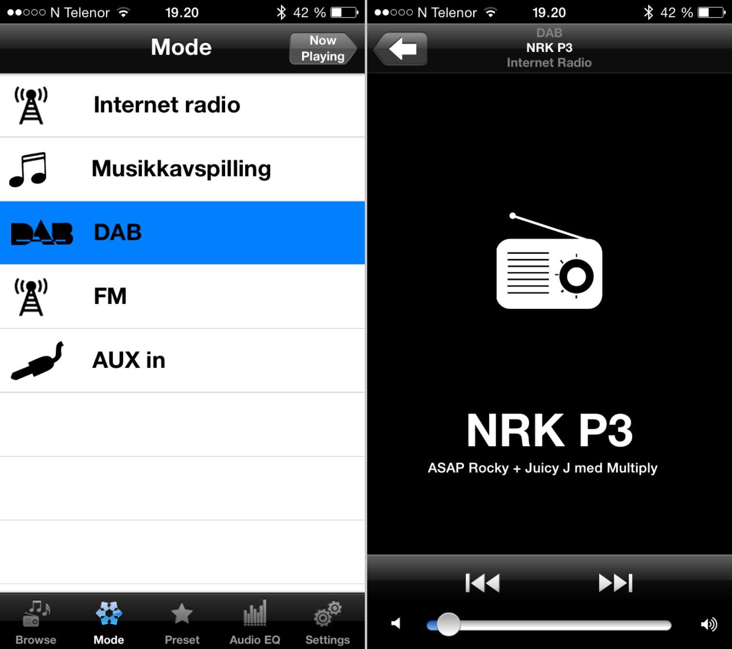 Slik ser iPhone-appen ut.