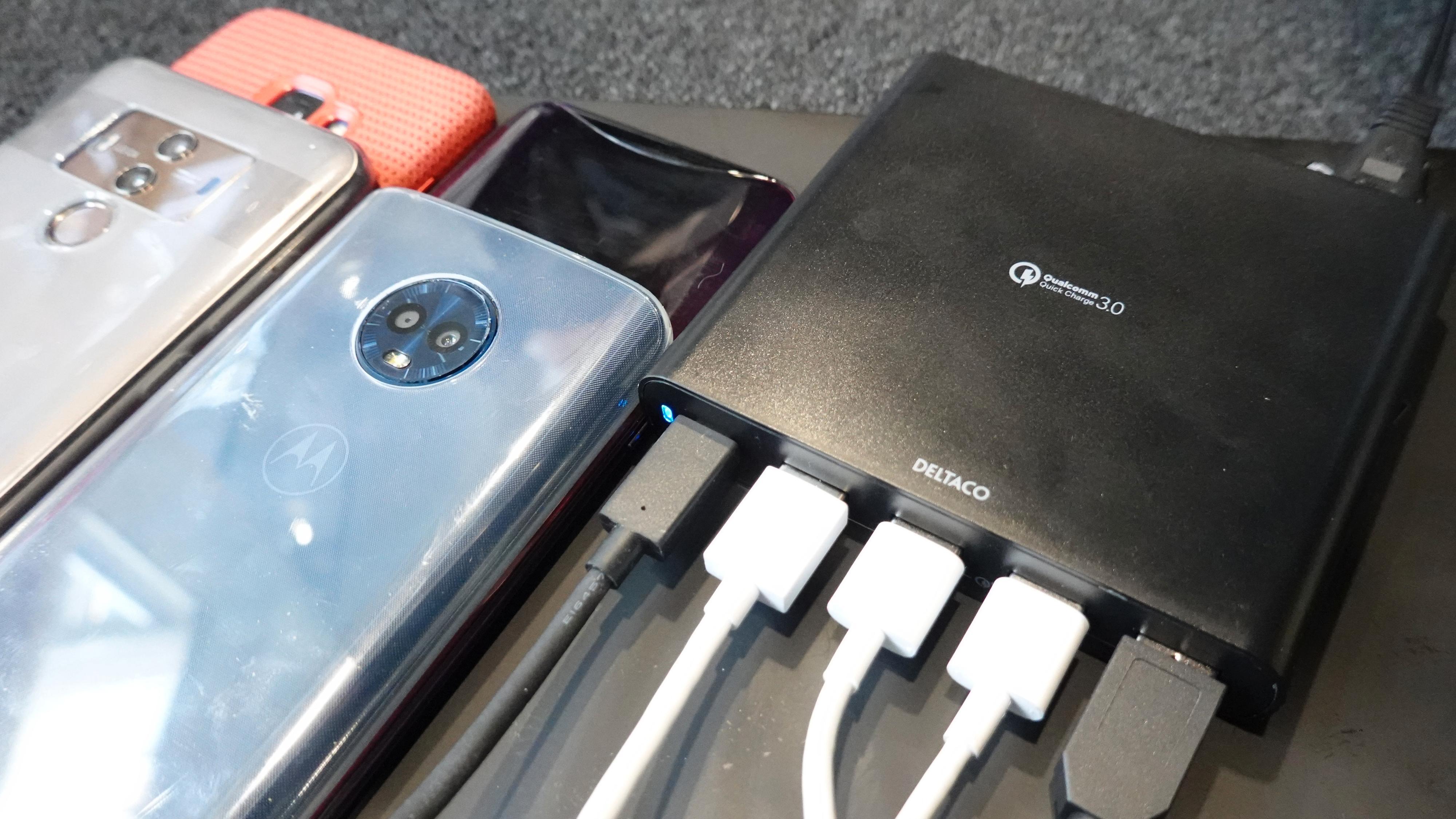 Deltaco USB-ladestasjon 80W