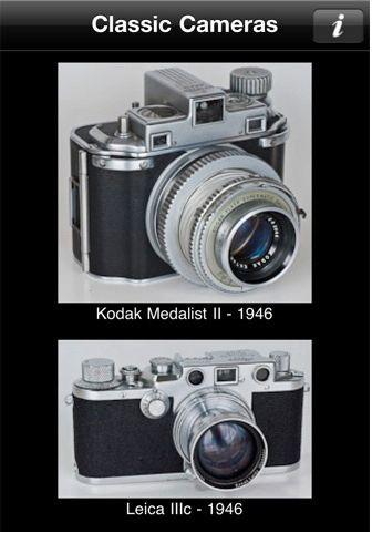 Mange bilder: Classic Cameras inneholder mer enn 500 bilder av de mest innflytelsesrike kameraene i historien.