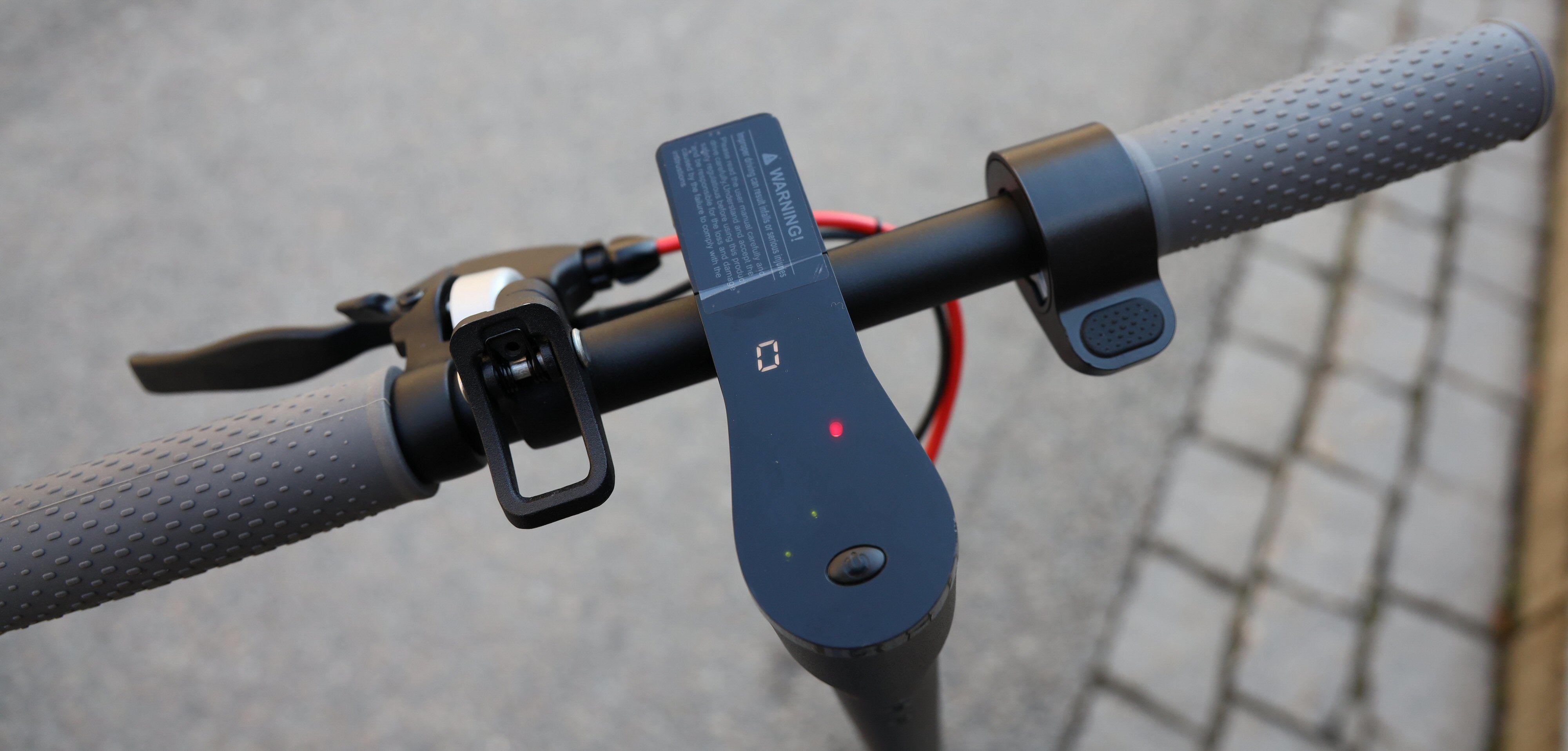 E-wheels E2S har speedometer, det har ikke Xiaomien.