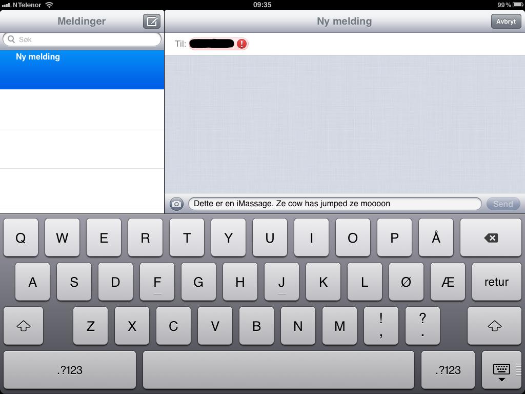 iMessage er tekstmeldinger over datatrafikk som bare kan veksles mellom iOS 5-enheter.