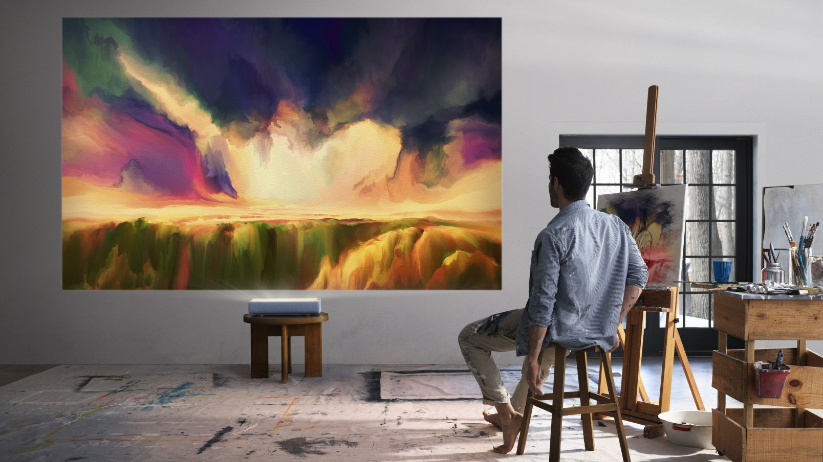 Samsungs «The Premiere» kan lage et bilde på 130 tommer fra kliss inntil veggen