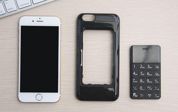 iPhone 6 med dekselet og Talkase.Foto: WirelessMe