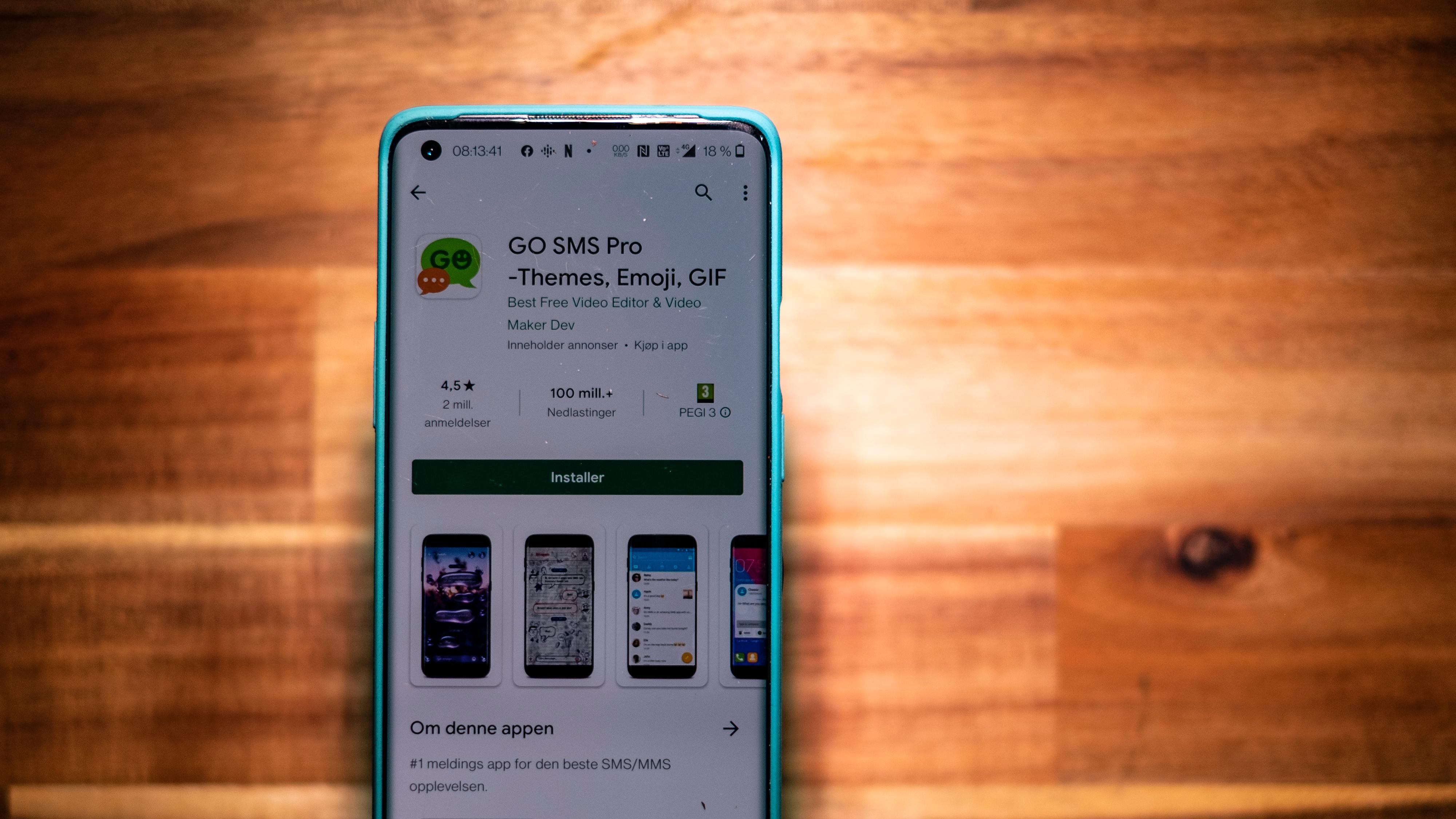 SMS-app delte grove bilder og videoer på nett