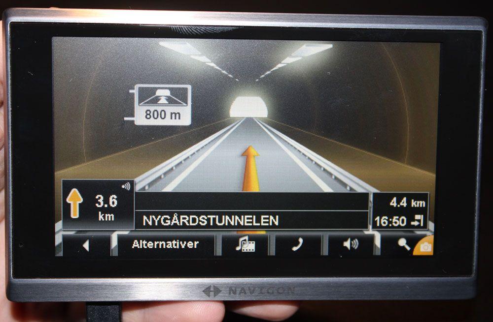 Dette bildet vises når du er i tunneler.