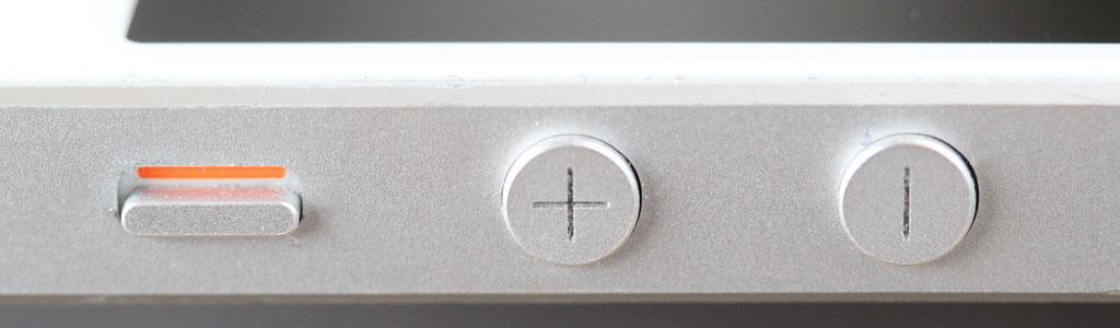 Designdetalj fra iPhone 5S.