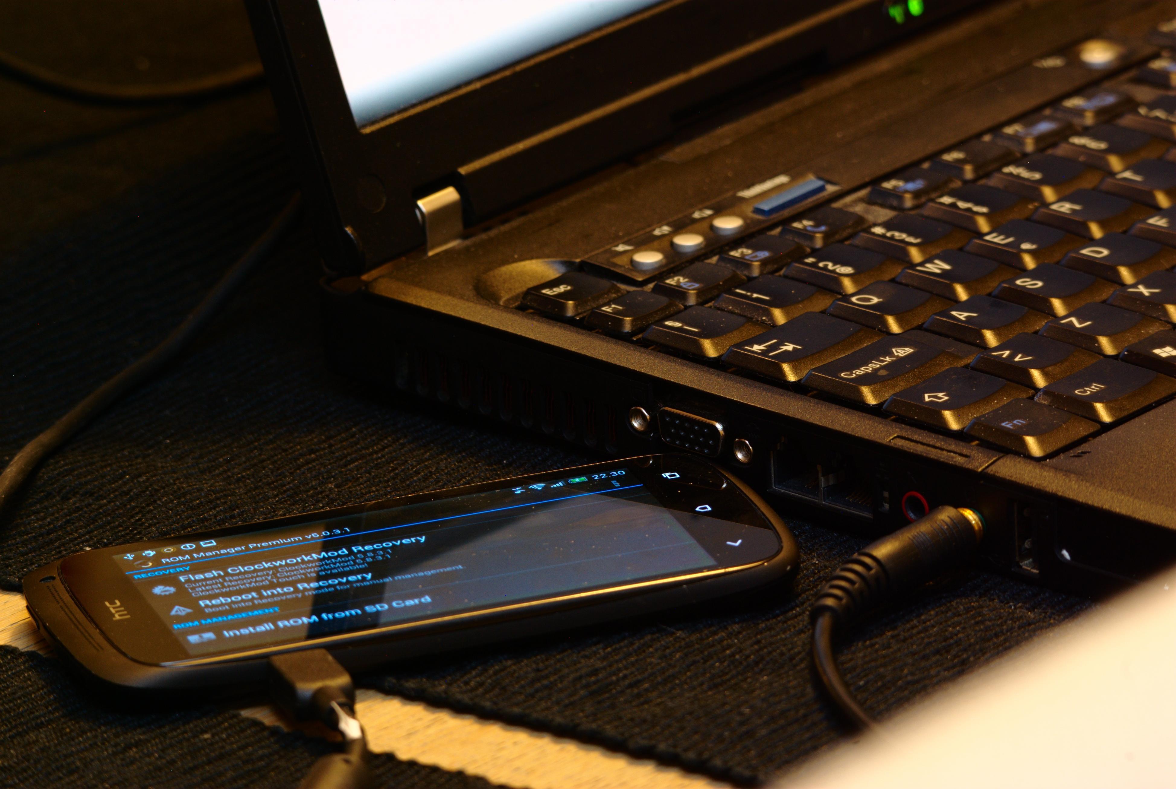 Undertegnede bruker ROM Manager for installasjon av forskjellige ROMs. CyanogenMod er spesielt mye brukt.Foto: Einar Eriksen