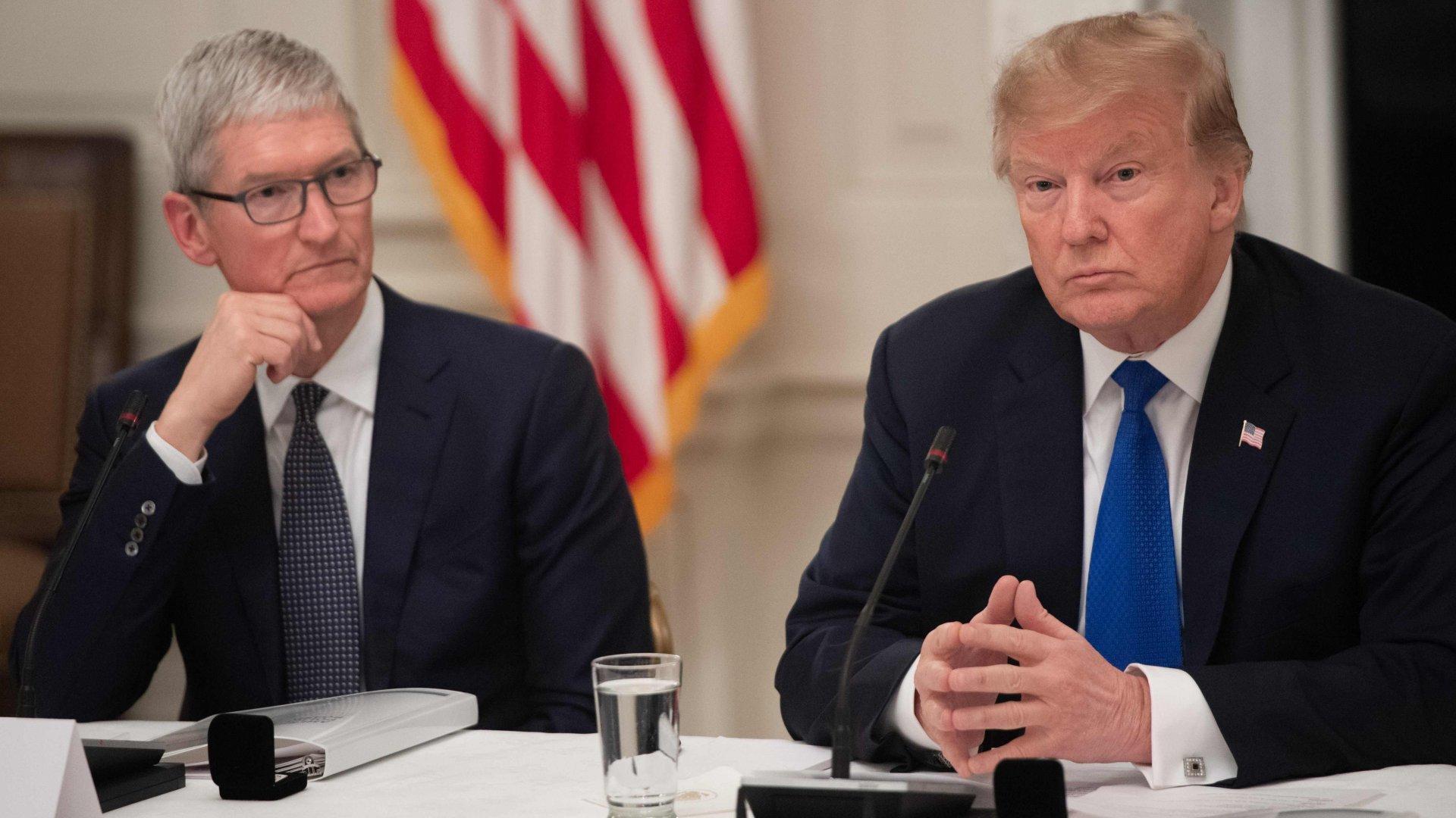 Trump vil vurdere Kina-toll etter Apple-møte