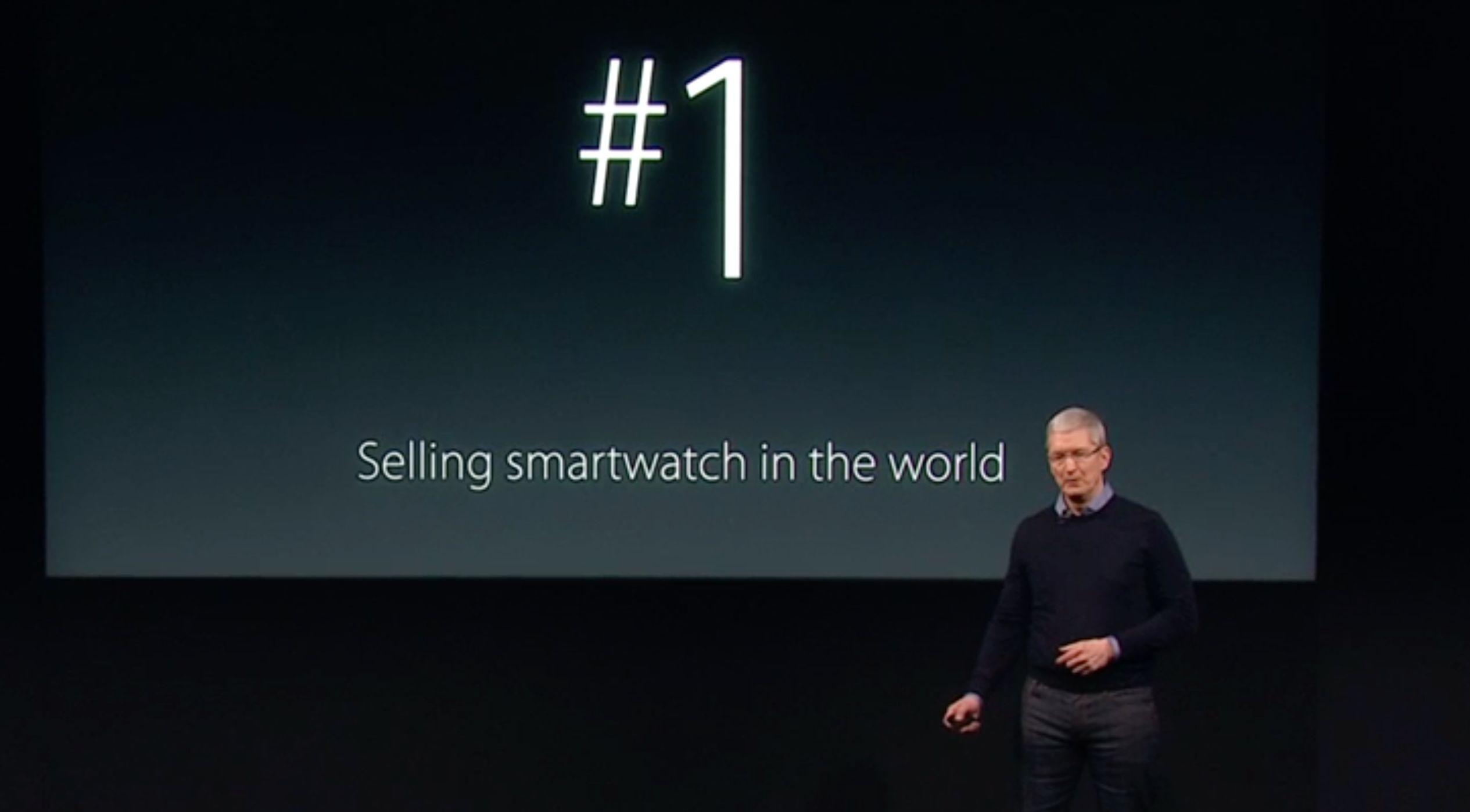 Apple Watch har blitt den mest solgte smartklokken på markedet.