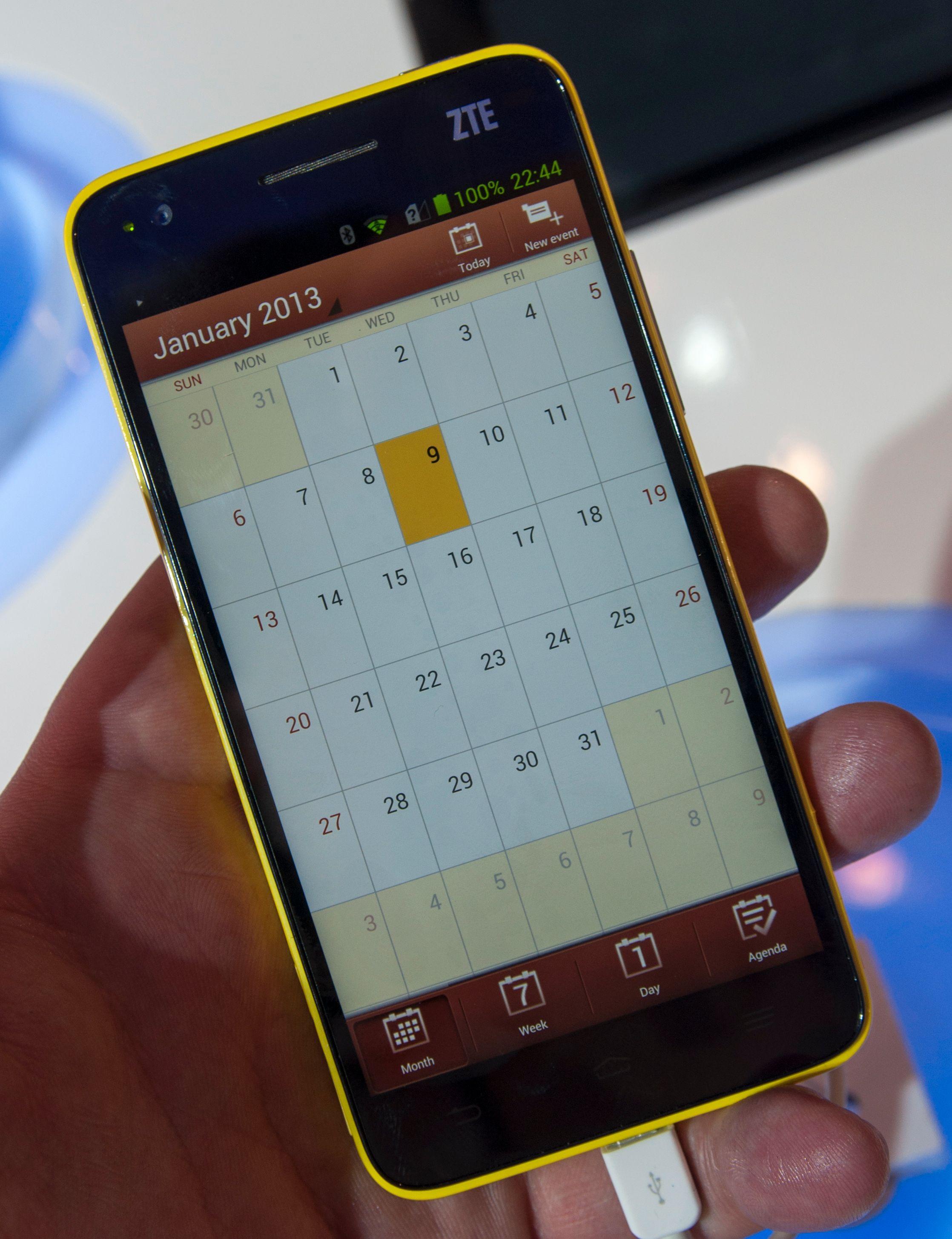 Kalenderen har blitt frisket opp voldsomt i forhold til standardkalenderen i Android.Foto: Finn Jarle Kvalheim, Amobil.no
