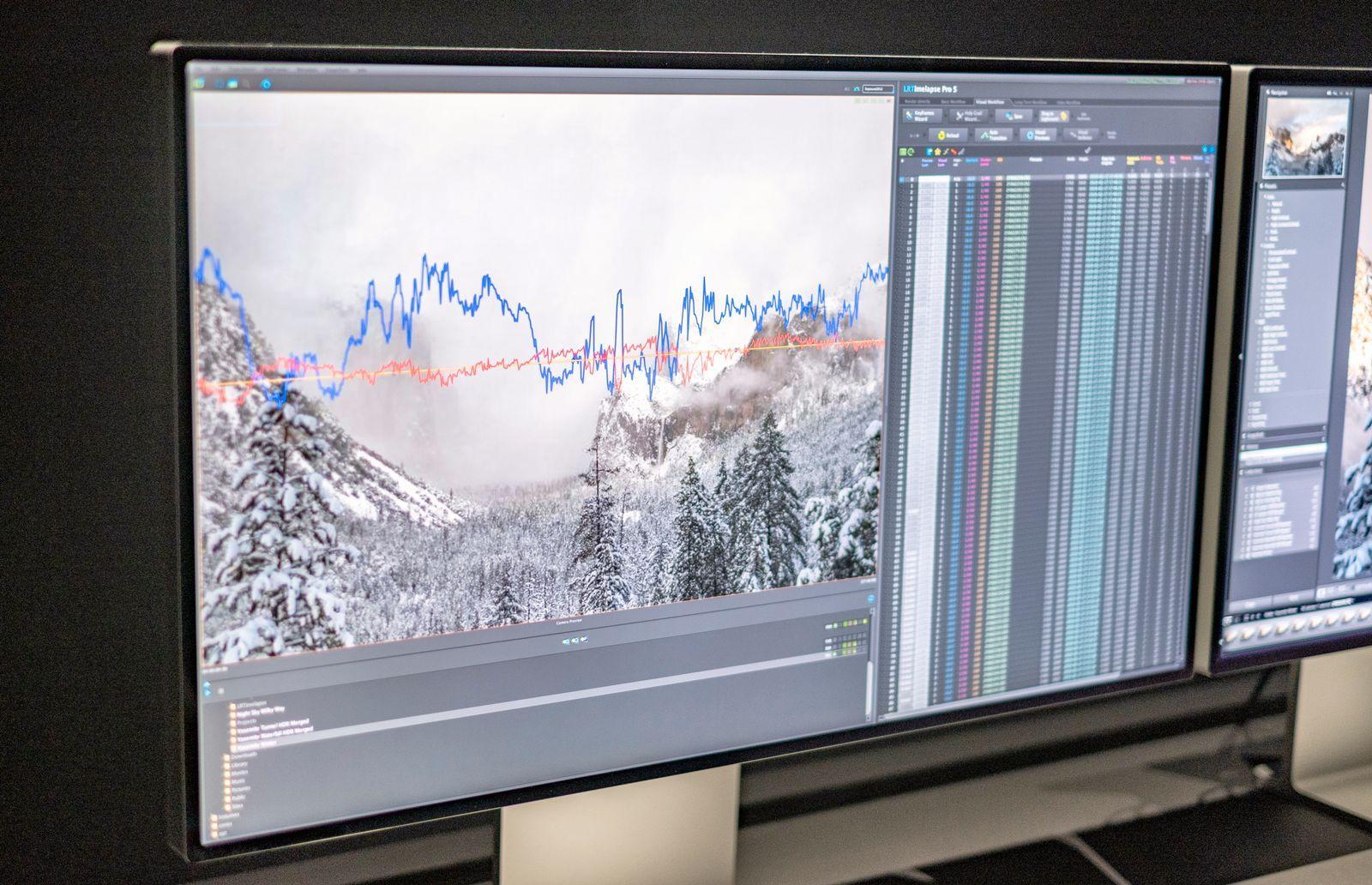 Apples Pro Display med tynne skjermrammer.