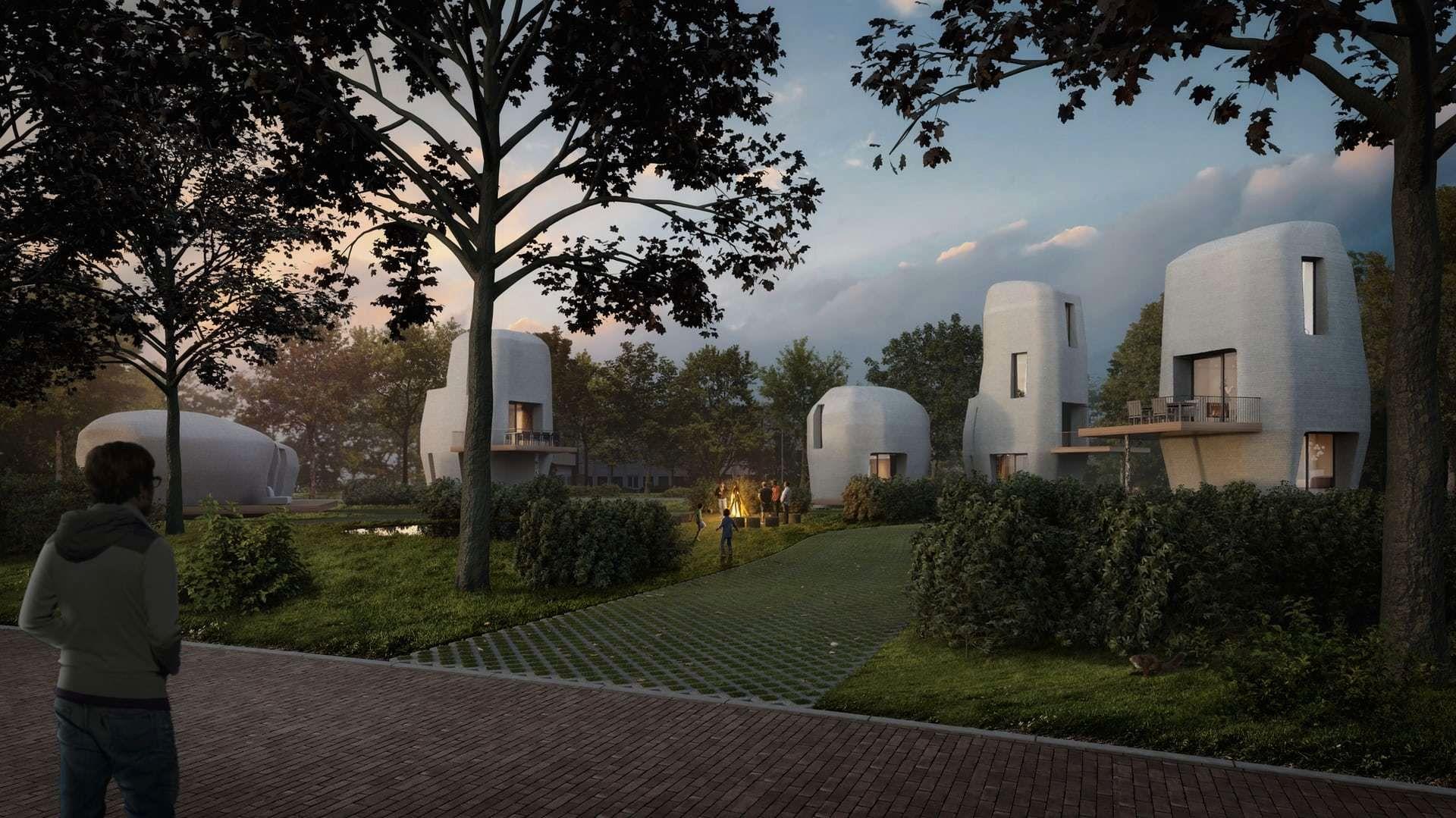 Nederlendere står i kø for å flytte inn i 3D-printede hus