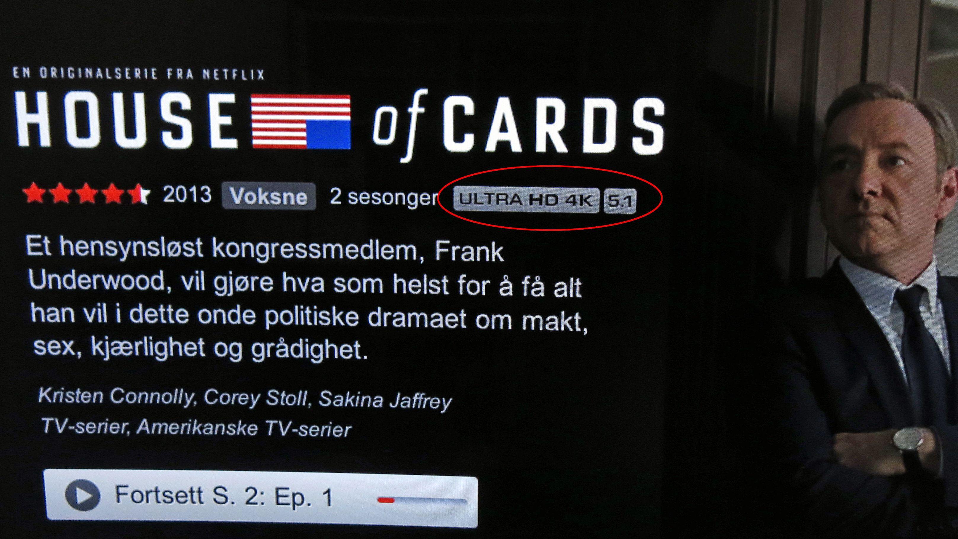 Slik fungerer 4K-Netflix på TV-en