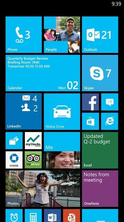Det blir mulig å ha flere «fliser» i bredden hvis du har en Windows-mobil med stor skjerm.Foto: Microsoft