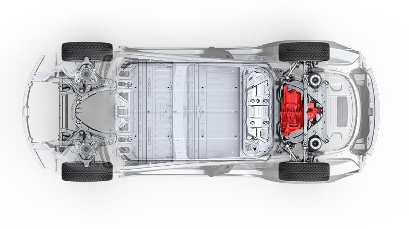 Standard Range Plus-utgaven har bare bakhjulsdrift.