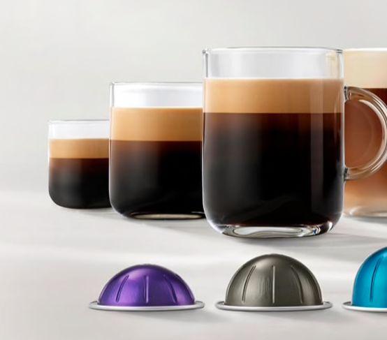 De nye kaffemaskinene lager alt fra espresso på 40 ml til 414 ml kaffe.