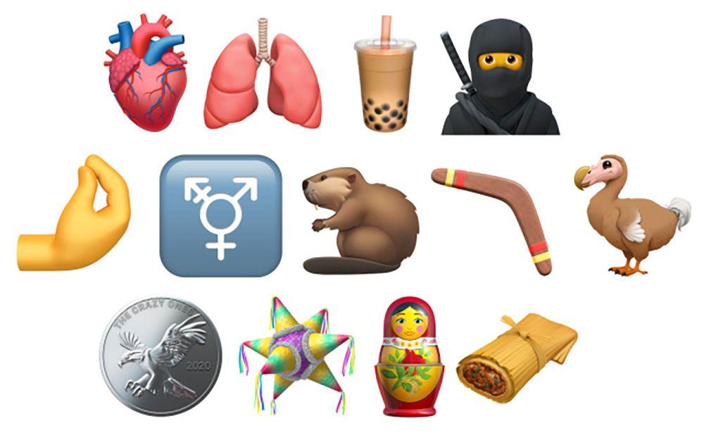 Slik skal noen av de nye Unicode-emojiene se ut for iPhone-brukere etter iOS 14-oppdateringen.