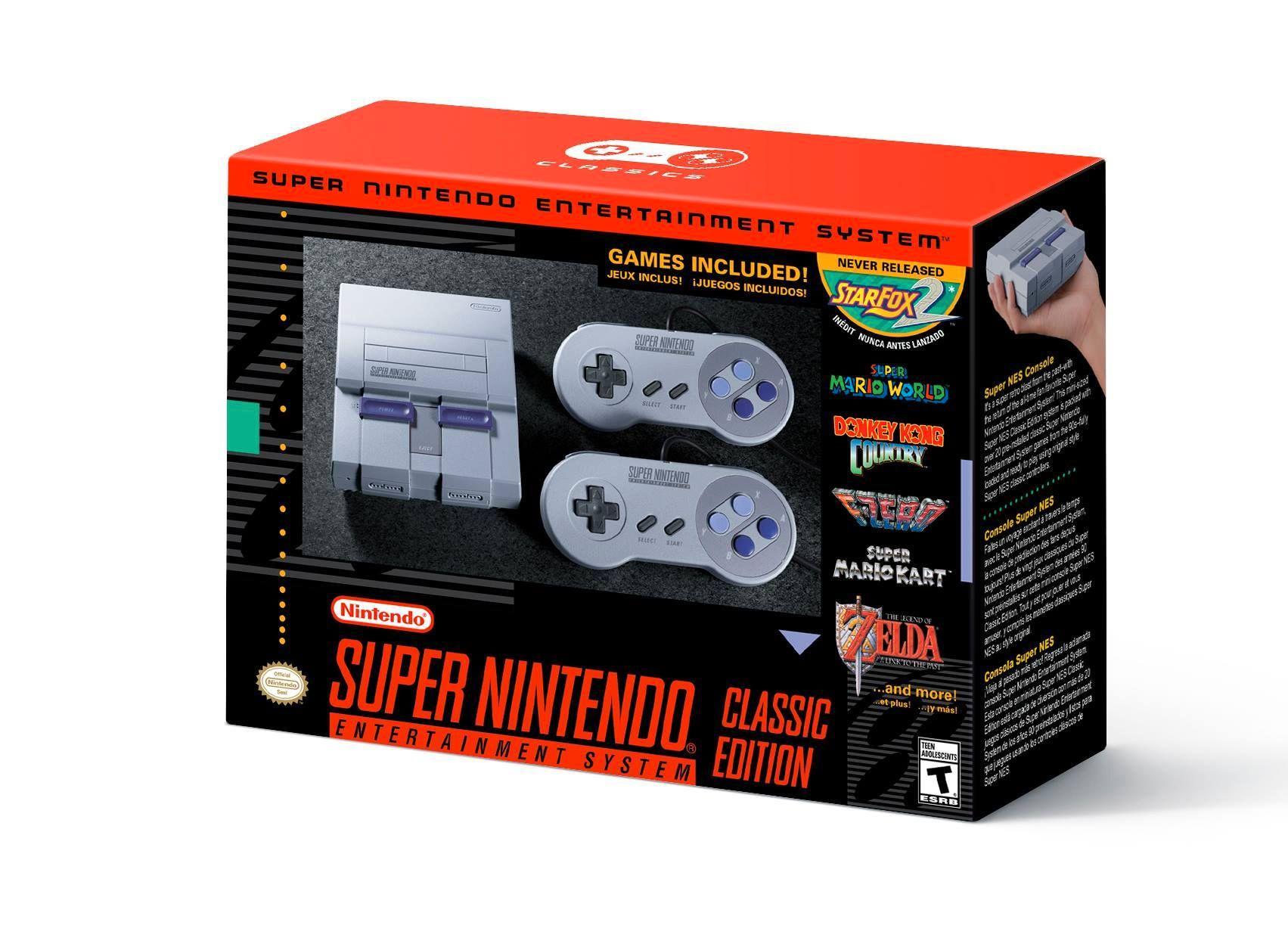 Slik ser den amerikanske versjonen av SNES Classic ut.