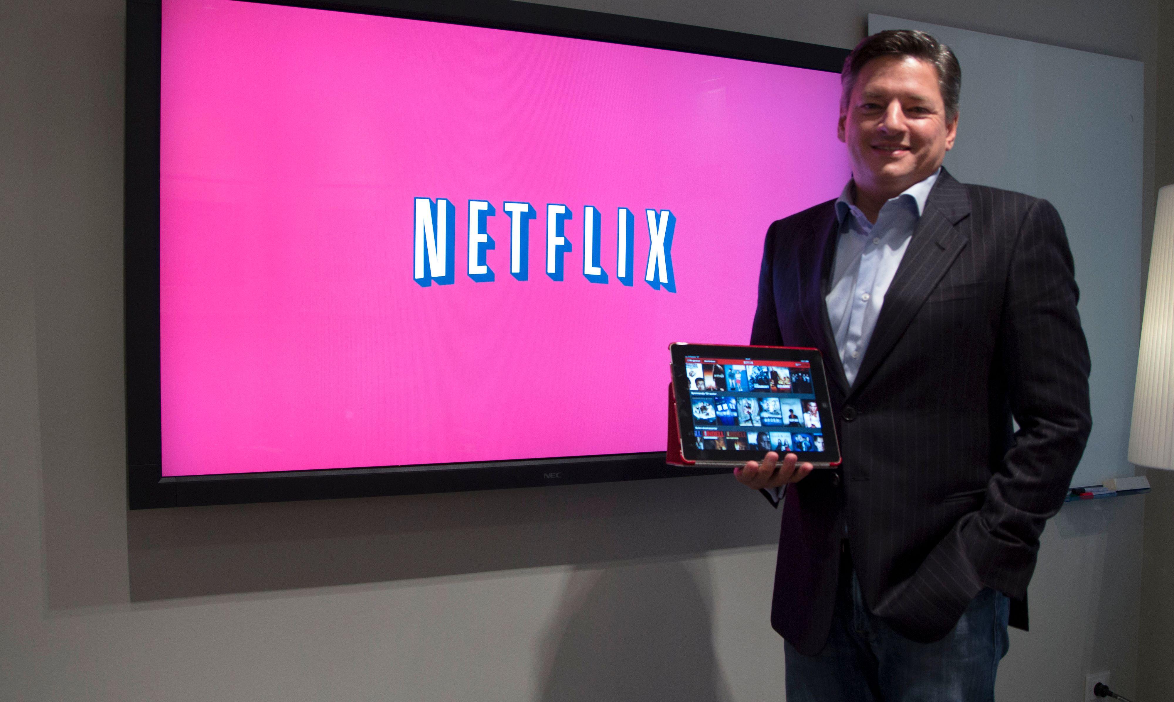 Ted Sarandos er innholdsansvarlig hos Netflix, og hadde mye å si om utdaterte distribusjonsmodeller og selskapets egne visjoner.Foto: Niklas Plikk, Hardware.no