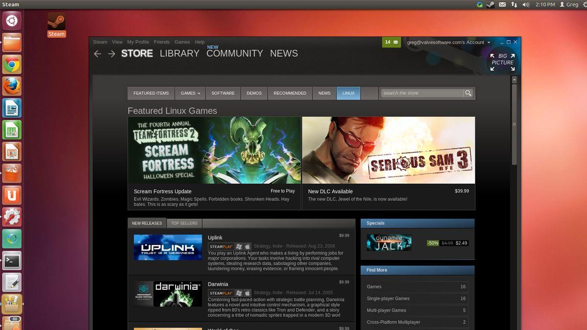 Steam nærmer seg Linux-lansering