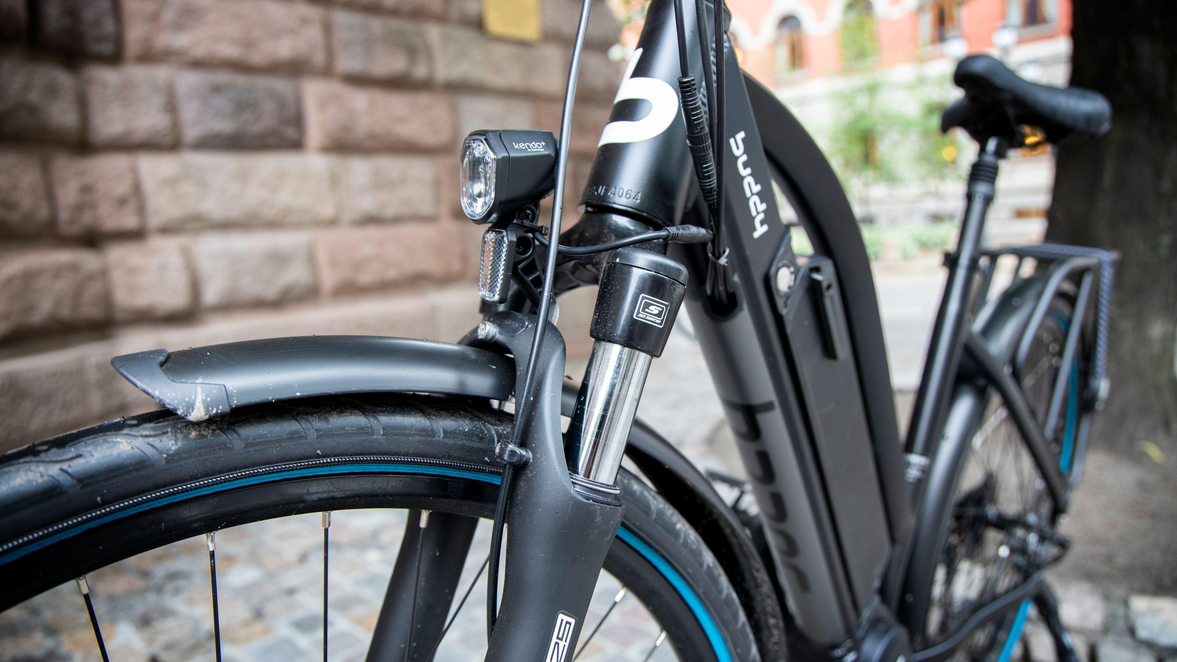 Buddy Bike C4 er blant syklene i testen som har demping foran.