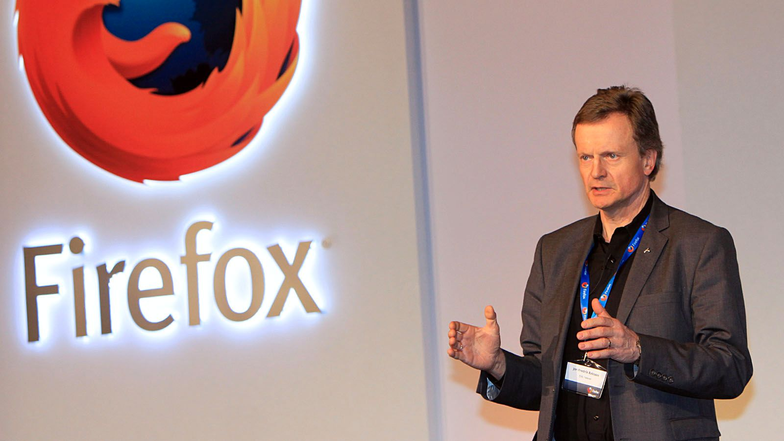 Jon Fredrik Baksaas var med på lanseringen Mozilla Firefox OS.Foto: Kurt Lekanger, Mobilen.no
