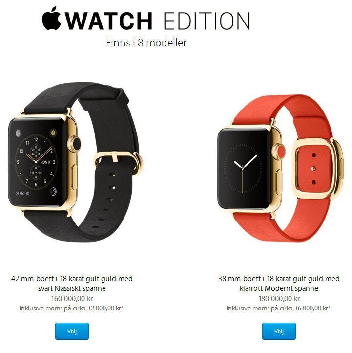 160 til 180 000 kroner skulle Apple ha for de heftigste klokkene da serien først ble lansert. Året etter slipp var de i praksis avleggs.
