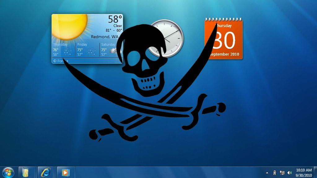 Windows 7 under piratangrep