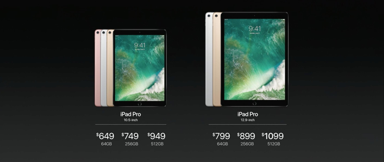 Nye priser på de to nye modellene. Alle starter på 64 GB lagring.