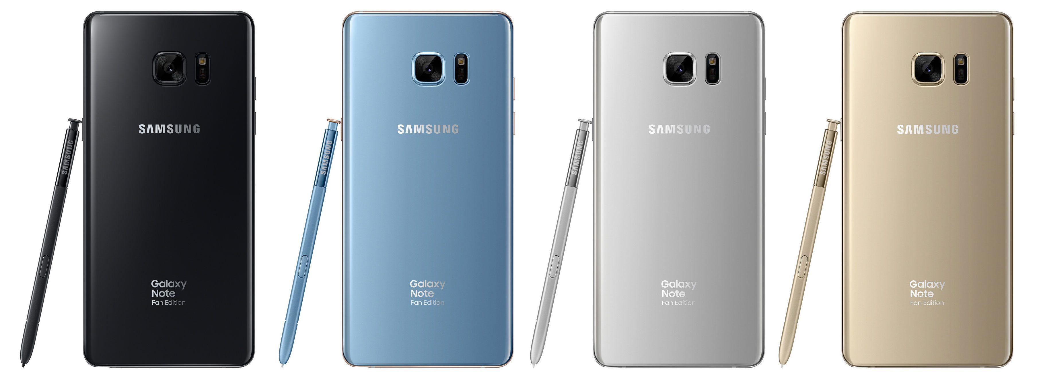 Samsung Galaxy Note FE er er eller mindre identisk med originalen.