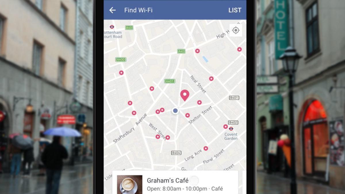 Nå kan du bruke Facebook til å finne WiFi i nærheten av der du er