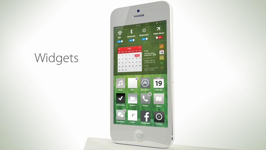 Simplyzesty.com har laget en konseptvideo som viser iOS 7 – slik de skulle ønske den kom til å se ut. Foto: Simplyzesty/montasje