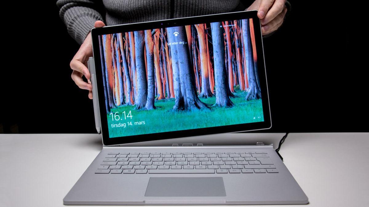 Microsoft Surface Book 2 med GTX 1050-grafikk