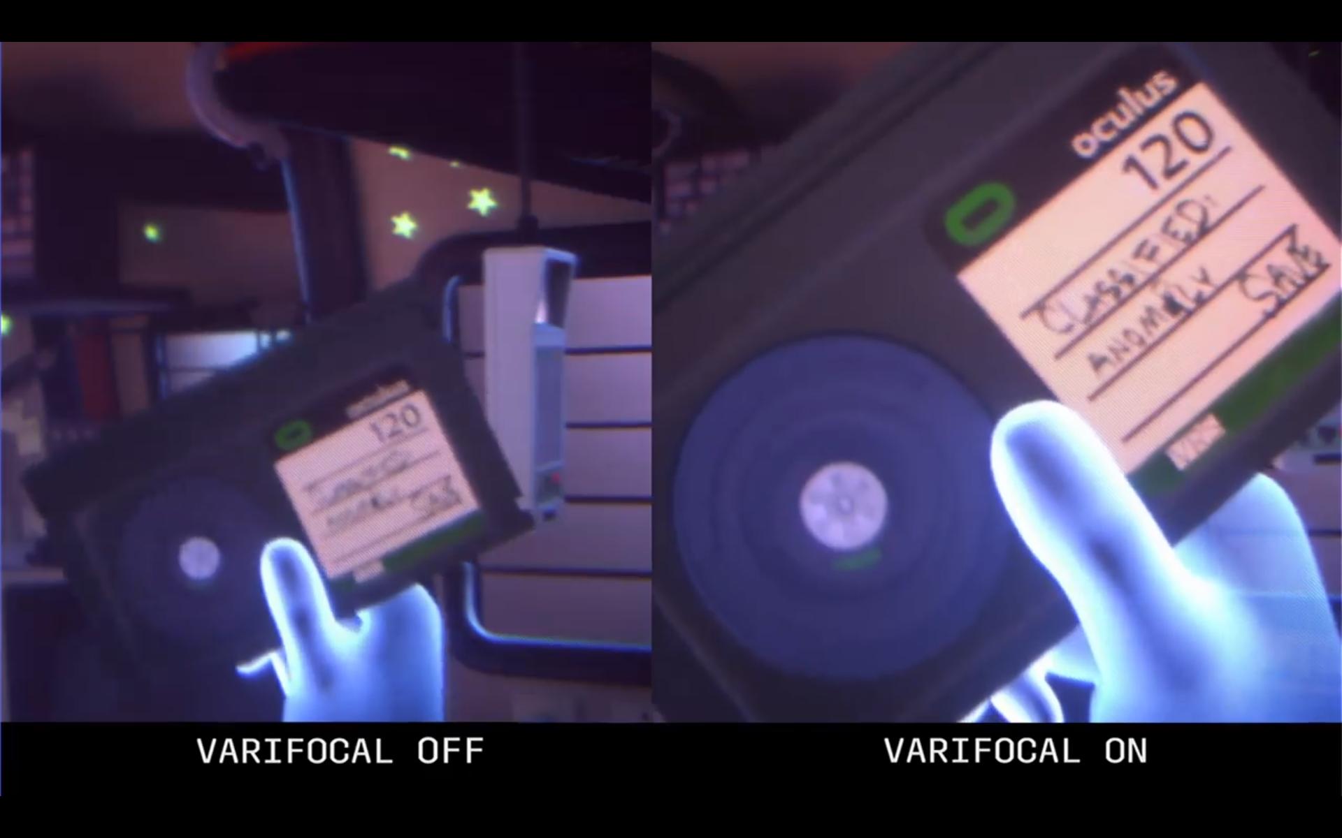 Brillene skal by på fokuserte objekter også nær øynene. Bildet er hentet fra F8-demonstrasjonen av teknologien.