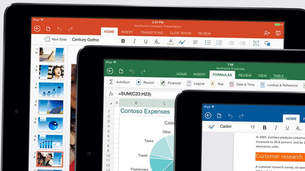 Nå får du Office på iPad
