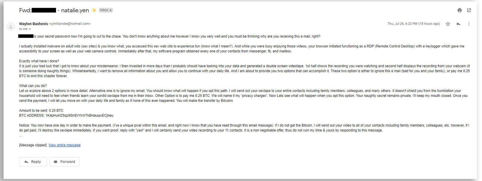 E-posten Ngo fikk.