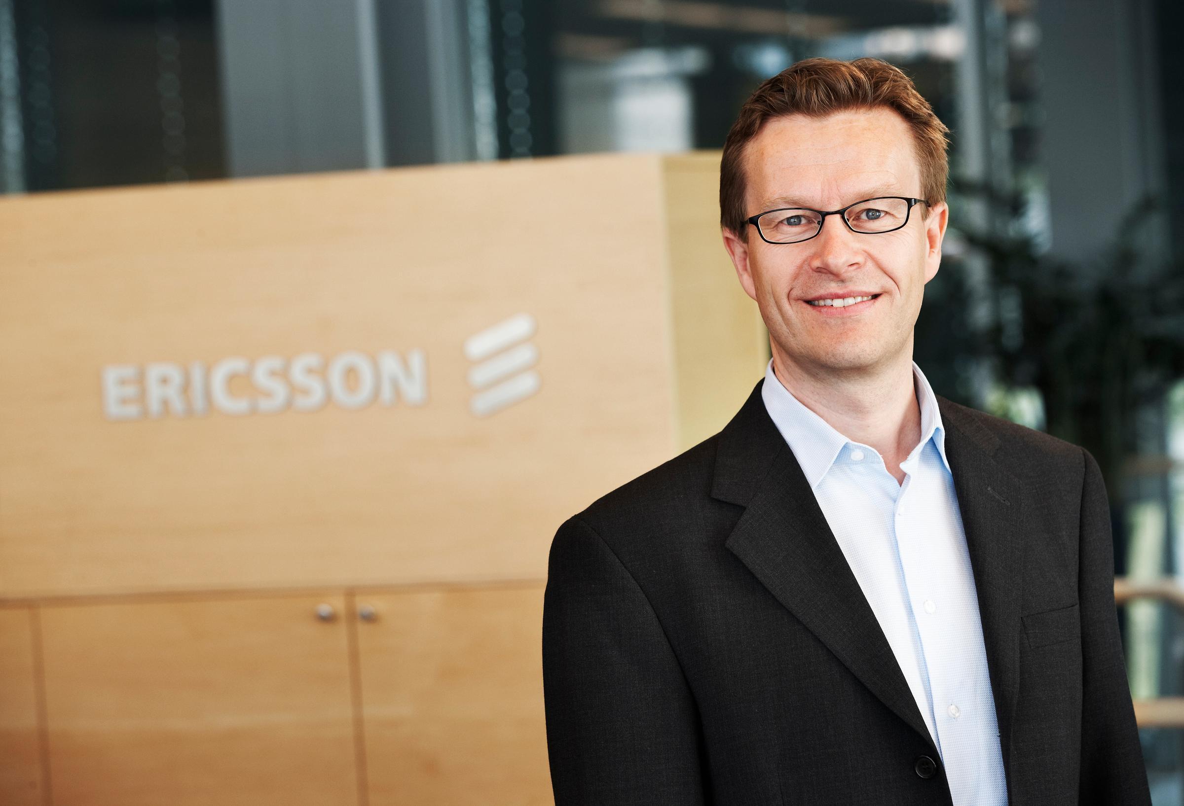 Aksel Aanensen, administrerende direktør i Ericsson.Foto: Ericsson