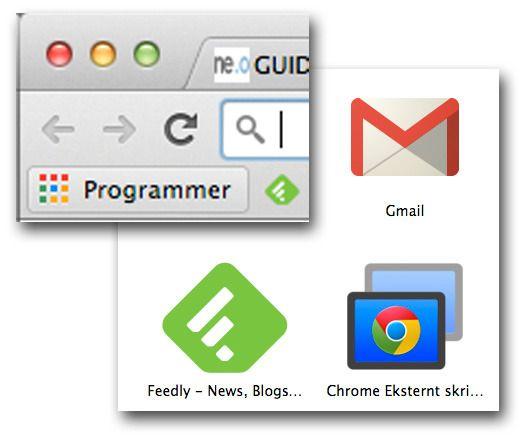 Installer først Eksternt Skrivebord-appen, og gå deretter til Programmer og start opp appen.