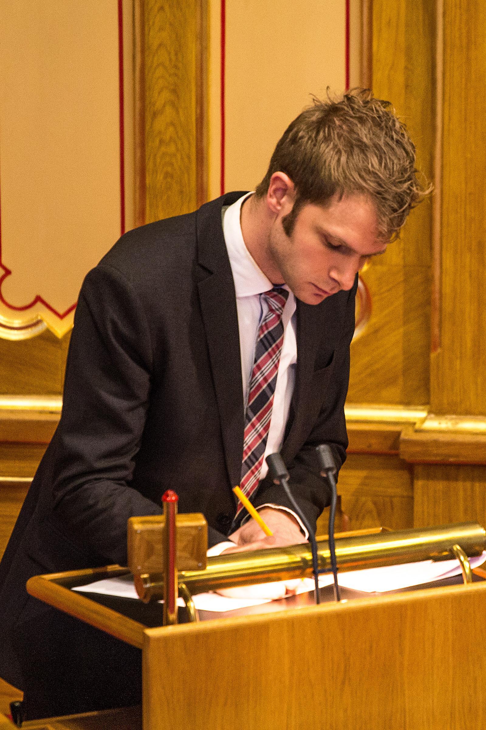 Snorre Valen, Sosialistisk Venstreparti.Foto: Varg Aamo, Hardware.no