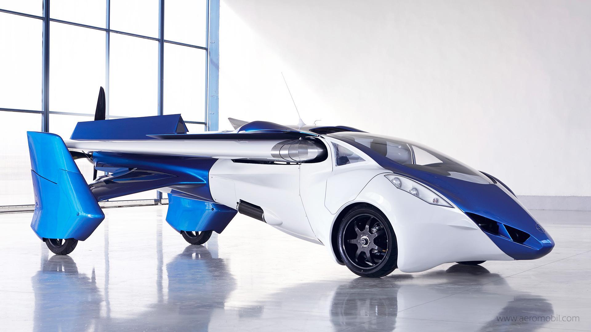 Den lekre prototypen under litt bedre omstendigheter. Foto: AeroMobil