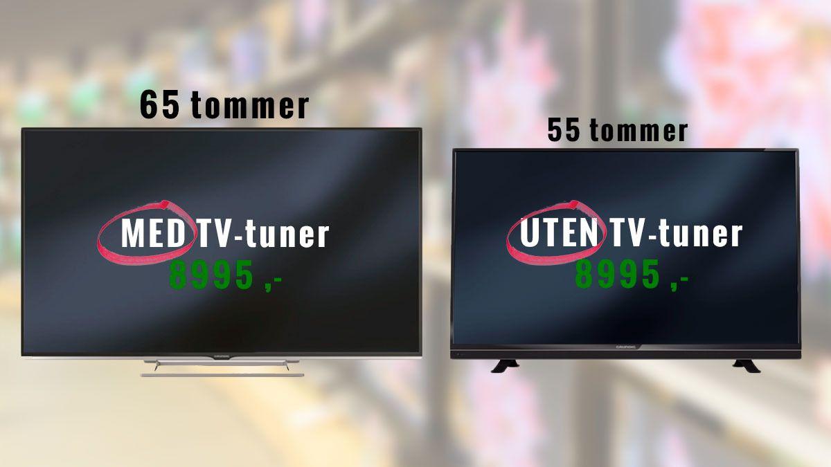 Sparer du egentlig penger på å kjøpe en TV uten tuner?